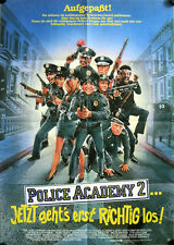 Police Academy 2 German movie poster Steve Guttenberg, Bubba Smith, David Graf