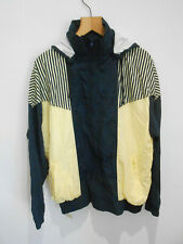 Vintage 90s Marks & Spencer navy yellow hooded shell suit tracksuit top M NEW