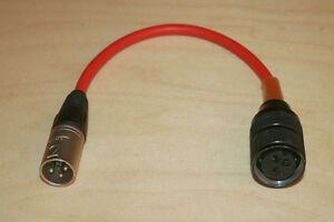 Tuchel Adapter Großtuchel - XLR rot f. Sennheiser etc.