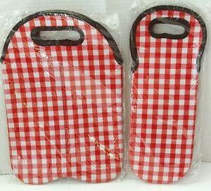 Red,White,Pink Wine/Bottle Carrier Bag Holder 2pc