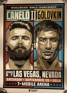Saul Canelo Alvarez vs Gennady GGG Golovkin 2 Boxing Poster 4/6