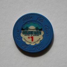 $1 GOLDEN GATE CASINO LAS VEGAS, NEVADA COLLECTIBLE POKER CHIP 1989 RARE