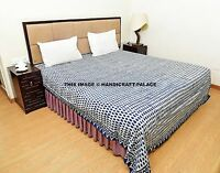 Hand Block Print Bedspread India Bed cover Ethnic Bedding throw Cotton Bed Sheet