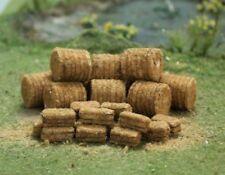 Tasma 00378 - Straw Bales 30 Pack (10 Round, 20 Square) OO Gauge - T48 Post