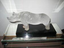 Lalique Rhinocerous