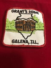 GENERAL U.S. GRANT HOME, GALENA, ILL., Embroidered Patch