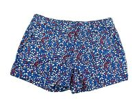 Vineyard Vines Womens Shorts Size 4 SMALL Red White Blue Print Cotton Stretch