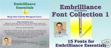 Embrilliance Essentials & Font Collection 1 Combo Embroidery Software Win&Mac