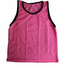 Adult Pink Scrimmage Training Vests Pinnie Uniform for Sports