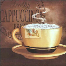 REPRINT PICTURE of coffee print FROTHY CAPPUCCINO BREW 6x6