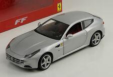 Ferrari FF 2010 plata Silver Hot Wheels 1:18
