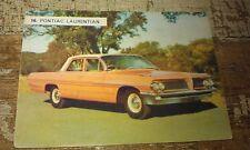 1962 PONTIAC  LAURENTIAN  Weetbix Australia Swap Trade Card