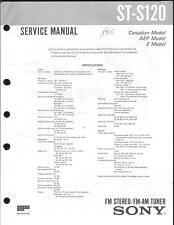 Sony Original Service Manual per ST-S 120