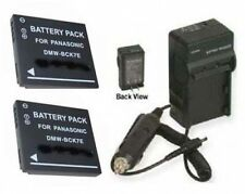 TWO 2 Batteries + Charger for Panasonic DMC-FH5P DMC-FH5S NCA-YN101H DMC-FH5K
