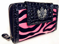 Authentic Hot Pink LYDC Boxed Womens Animal Print Croc Purse Ladies Wallet Bags
