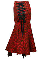 skirt mermaid gothic fishtail long steampunk victorian vintage maxi corset dress