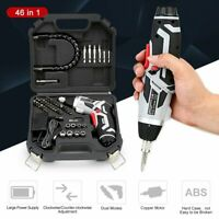 46 in 1 Rechargeable Wireless Cordless Electric Screwdriver Drill Kit Power Tool