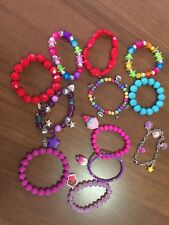 Lot of 12 Little Girls Kids Costume Jewelry 12 Bracelets