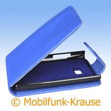 Flip Case Etui Handytasche Tasche Hülle f. LG E400 Optimus L3 (Blau)