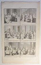 Bernard PICART (1673-1733) Kupferstich-Blatt um 1720 mit 6 Abb.: Vatikan (04