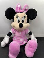 "Walt Disney CLASSIC MINNIE MOUSE IN PINK DRESS 10"" Plush STUFFED ANIMAL TOY"