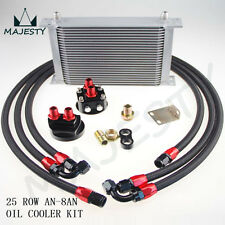 AN-8AN 25 ROW UNIVERSAL FILTER RELOCATION OIL COOLER  NYLON BRAIDED OIL LINE KIT