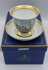 Captain's Cup Tatasse Schiff Helgoland Porzellan handbemalt A. Warnecke Hamburg