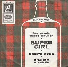 """7"""" 45 TOURS ALLEMAGNE GRAHAM BONNEY """"Super Girl / Baby's Gone"""" 1966 POP"""