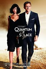 QUANTUM OF SOLACE (2008) ORIGINAL MOVIE POSTER  -  ROLLED  -  DOUBLE-SIDED