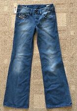 Womens Junior Girl Size 25 x 32L Diesel VIXY Button Fly Distressed Flare Jeans
