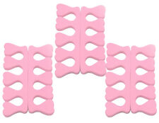 3 PAIRS SPONGE FOAM SOFT BABY PINK TOE SEPARATORS PEDICURE TOE NAIL ART TOOL