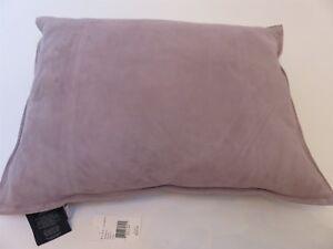 Ralph Lauren Reydon suede deco pillow Park Avenue Francoise Lilac $255 NWT