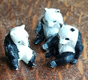 Britain's and Other Plastic Zoo Animals. Group of 3 Panda Bears.,