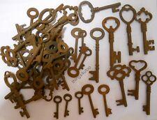 Rusty Ornate Skeleton 1800 S Keys 100 PC Lot Steampunk 2207