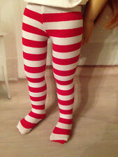 """Red and White Striped Tights for 18"""" Kidz n Cats, Tonner Imagination,"""