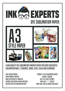 A3 Style 120g Sublimation Heat Transfer Paper 100 Sheet for hard substrate