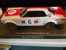 Nissan Skyline GT-R (KPGC10) Nr. 6 Japan GP WINNER 1971 1:18 Autoart