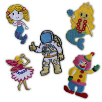 Cute mermaid cartoon badges collection Iron on Sew on Embroidered Patch