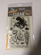 Color Layering Octopus Clear Acrylic Stamp Set by Hero Arts CM104 NEW