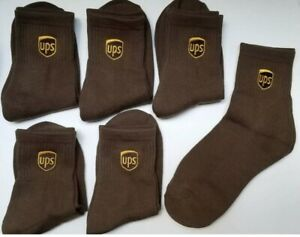 UPS Anklet Sock 6-Pack FAST SHIPPING, All Sizes in Stock