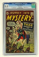 JOURNEY INTO MYSTERY #84 Marvel THOR 1962 CGC 5.5 Jane Foster 1st Appearance