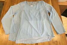 Mamalicious Light Blue Nursing Breastfeeding Top Blouse L Large New BNWT