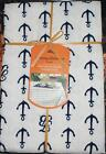 Tommy Bahama Boat ANCHORS AWAY Water Repellent Indoor Outdoor Tablecloth - NIP