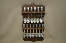 Set of Original 13 Colony International Silver Plate Bicentennial Spoons & Rack