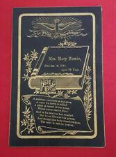 1891 Funeral Card. Jan. 4th 1891. G.S. Utter & Co. Memorial Cards. Chicago.