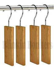 4 ANTI MOTH HANGERS CEDAR WOOD FRESH ODOUR CLOTHES DETERRENT REPELLENT WARDROBE