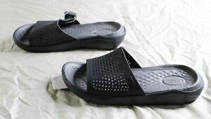 Crocs Men's Literide Relaxed Fit Waterproof Clog RH8 Black Size US:8