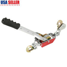 Frim 2 Ton Wire Rope Ratchet Hand Power Puller Tool Tightener Double Hook Lift