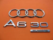 2002-2004 AUDI A6 3.0 QUATTRO REAR EMBLEM LOGO BADGE SIGN OEM 02 03 04 SET #5
