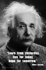 Einstein - Learn from Yesterday Mini Poster -  11.5x17.5 Laminated